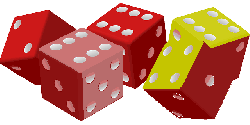 , dice, game, luck, gambling, cubes, red, violett, green