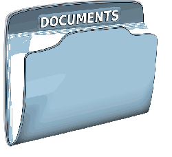 , documents, folder, office, text, file, blue