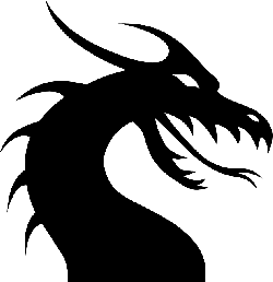 , dragon, lizard, monster, chinese, silhouette, tattoo