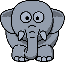 , elephant, animal, head, eyes, cute, gray, drawing
