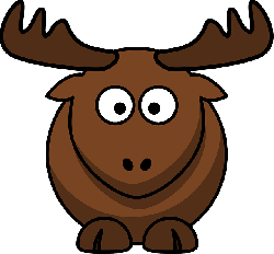 , flat, cartoon, cute, elk, moose, circle, animal