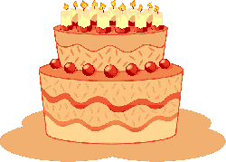 , flat, icon, cake, cartoon, birthday, gateau, dessert