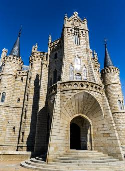 , gaudí, astorga, castle, palace, the construction of