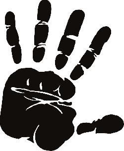 , hand, palm, fingers, spread, silhouette, stop, halt