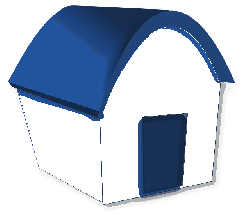 , house, home, building, cartoon, funny, simple, blue