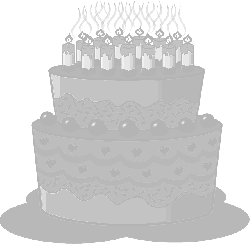 , icon, food, slice, cake, candle, outline, drawing