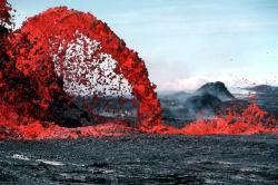 , lava, magma, volcanic eruption, glow, hot, rock