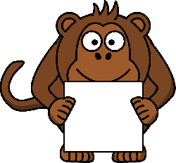 , monkey, animal, happy, paper, brown