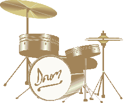 , music, set, icon, simple, outline, drum, drawing
