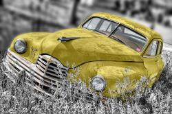 , oldtimer, car, old, vintage, headlight, engine hood