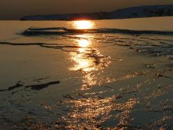 , pamukkale, abendstimmung, reflection, back light
