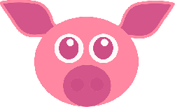 , pig, pink, cute, animal, face, funny, head, mammal