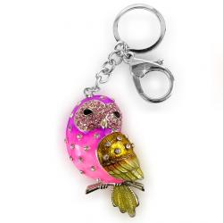 , sowa, key ring, keychain, key ring pendant, bird, color