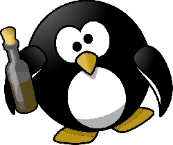 , tux, alcohol, alcoholic, animal, bird, booze, boozy