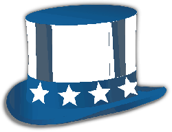 , uncle sam, hat, stars, usa, america, red, blue, white