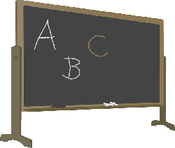 abc, alphabet, blackboard, chalk, chalkboard, education
