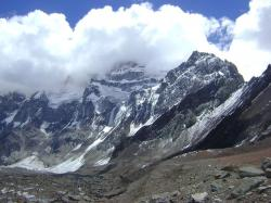 aconcagua, south wall, mountains, snow, height