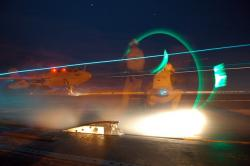 aircraft carrier, ship, plane, jet fighter, night