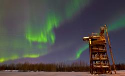 alaska, aurora borealis, northern lights, sky, green