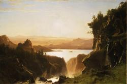 albert bierstadt, painting, art, oil on canvas