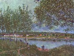 alfred sisley, painting, oil on canvas, artistic