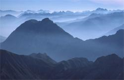 alpine, mood, distant view, mountains, panorama