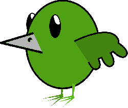 animal, bird, green, beak, twitter, tweet, simple