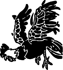 animals, birds, bird, rooster, hen, flying, jumping