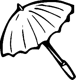 animals, black, simple, outline, umbrella, drawing