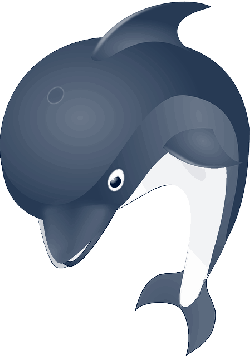 animals, cartoon, dolphin, ocean, logo, jan, animal