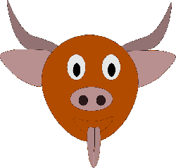 animals, head, cartoon, farm, mammals, bull, horns