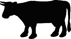animals, head, silhouette, cartoon, farm, cow, cattle