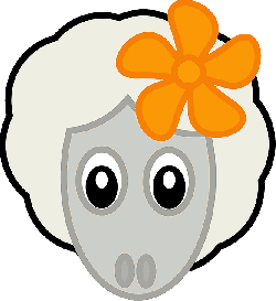 animals, lovely, flower, cartoon, mammals, sheep, lamb