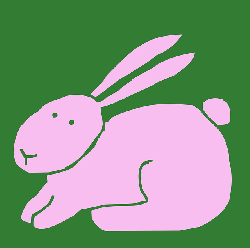 animals, outline, cartoon, spring, free, mammals, bunny