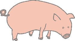 animals, outline, marcelo, drawing, cartoon, farm, pink