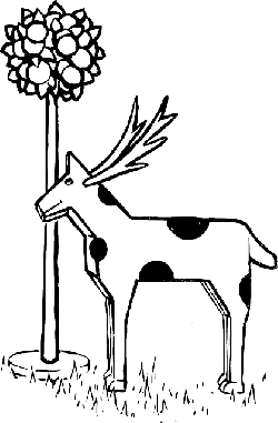 animals, outline, tree, deer, toy, plant, animal, eat