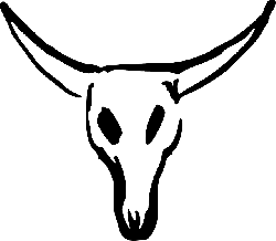 animals, skull, cartoon, cow, cattle, mammals, bull