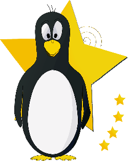 animals, tux, penguin, star, cartoon, birds, cute