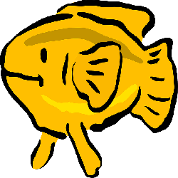 animals, water, yellow, cartoon, fish, free, swim