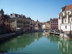 annecy, france, city, buildings, structures, cafe