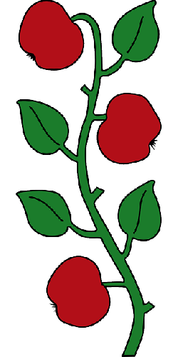 apple, food, fruit, tree, branches, cartoon, branch