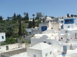 arabic, houses, blue, white, tunis, spectacular