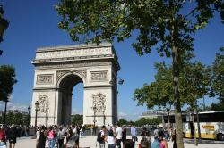 arc de triomphe, paris, monument, landmark, panorama