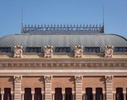 architecture, brick, geometric, station, atocha