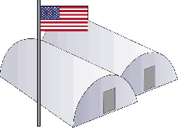 army, usa, barracks, base, military, simple