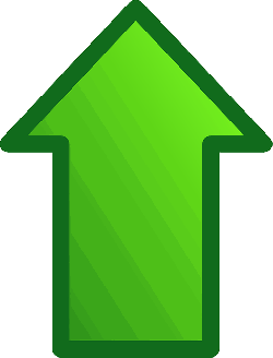 arrow, green, glossy, up, upload, top