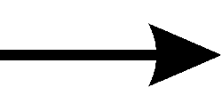 arrow, right, pointing, black