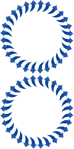 arrows, curved, circle