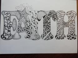 art, zentangle, pen and ink drawing