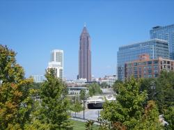 atlanta, downtown, skyline, urban, cityscape